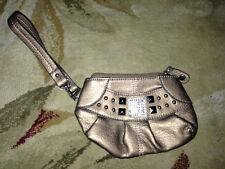 KATHY VAN ZEALAND Wristlet goldish  bronze  7 by 4