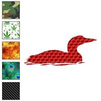 Loon Diver Duck Decal Sticker Choose Pattern + Size #439