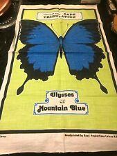 Cape Tribulation-Stunning Butterfly New Tea Towel-1980's-Linen-Hand-printed.Rare
