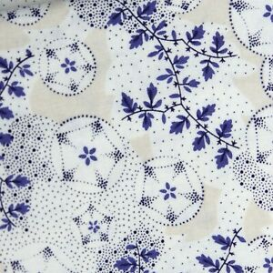 Anna Griffin Winham Fabrics purple floral geometric ivory Cotton Quilt Mask
