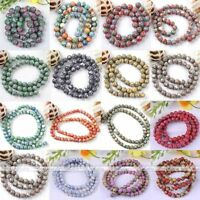 Strand Howlite Turquoise Gemstone Round Ball Loose Beads Fit Jewelry Making DIY-