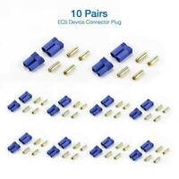 10 Pairs Multi-Copter EC5 Device Connector Plug For RC Plane Helicopter Car A1T4