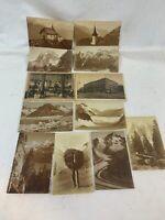 Vintage 1920's Lot of 12 - Thor E. Gyger Vintage Alps Switzerland Postcard 326