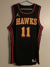 Trae Young Black Atlanta Hawks Jersey Size Large New With Tags