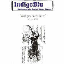 WISH YOU WERE HERE - A6 Mounted Rubber Stamp - INDIGOBLU