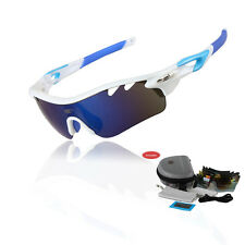 EOC Polarized Cycling Glasses Bike Goggles Fishing Sunglasses UV400 5 Lens T801