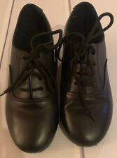 Very Fine Black Latin Dance Shoes Boys  Size 13.5