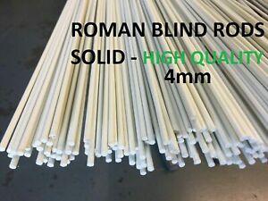 4m Long (14 feet) Fibreglass Roman Blind Rods SOLID 4mm