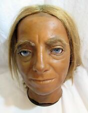 Vintage Antique Oddity Mannequin PLYMOUTH WAX MUSEUM FIGURE HEAD Real Human Hair