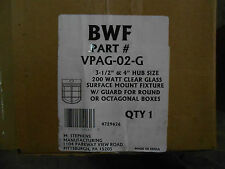 M. STEPHENS MANUFACT. OUTDOOR LIGHT FIXTURE VPAG-02-G 200 WATT CLEAR WITH GUARD