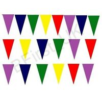 20 Pennant Flags Multi Coloured Bunting Plastic Banner Party Decoration Outdoor