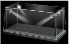 1 18 Display Case With LED Lights Black Base for Diecast Models - KC9920