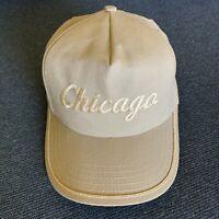 Vintage 80s Chicago Kap King Hat Tan Snapback cap trucker one size adjustable