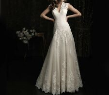New  White/Ivory Mermaid Sleeveless Beach Wedding  Gown Dress