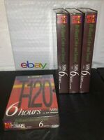 Sealed Blank VHS Tapes 6 Hours (EP) Brilliant Color & Sound LDK T-120: Lot of 4