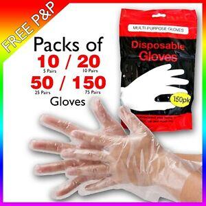 Disposable Plastic PE Polyethene Gloves - Food Safe - Non Vinyl Pu Latex
