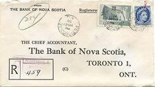 1956 Saint John, N. B.. Barrel cancel RF40, Pedicodiac registered Canada cover