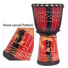 AKLOT Djembe Africa Drum Solid Mahogany 10 Inch for Beginner