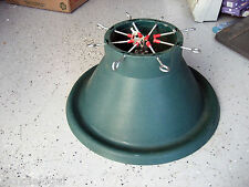 "Used Very Large Christmas Tree Stand,19"" base, fits up to 7""dia tree trunk,8 pin"