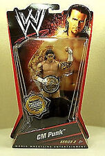 "WWE_CM PUNK 6"" action figure with BELT_Limited Edition #70 of 1000_MIP_Series #2"