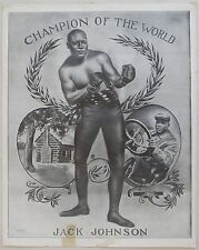 1909 Jack Johnson Champion of the World Poster