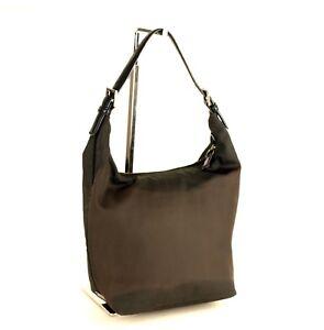 100% Authentic Coach New York Grey Nylon Hobo Shoulder Bag F0K-7423