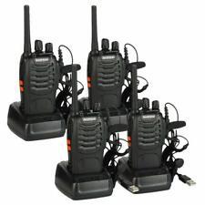 4Pack Baofeng BF-88E Notre talkie-walkie PMR446 16 canaux vec casque, noir LED