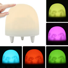 LED Night Light Rechargeable 9 Colour RGB Sleep Timing Bedside Table Touch Lamp