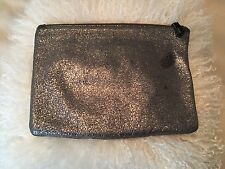 MARC JACOBS NEIMAN MARCUS TARGET PEWTER SILVER LEATHER CLUTCH POUCH MAKEUP BAG