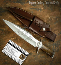 IMPACT CUTLERY RARE CUSTOM D2 BOWIE KNIFE BURL WOOD HANDLE