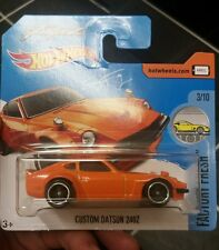 Hot wheels CUSTOM DATSUN 240Z Fugu Z orange short card 2017