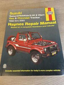 Haynes Manual 90010 Suzuki Samurai Sidekick X-90 Vitara Geo & Tracker 86-01