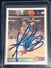 Kendall Gill Signed 1992 Upper Deck Card!Charlotte Hornets, Dunk Legend! Clean!