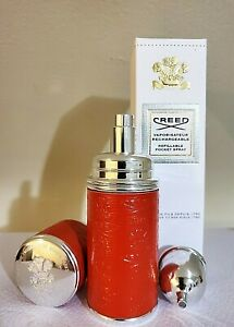 CREED LEATHER ATOMIZER FILLED SPICE AND WOOD PERFUME 50ml /1.7oz (FREE SHIPPING)