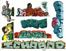 G SCALE GRAFFITI DECALS G02 FROM REAL GRAFFITI PHOTOS ICH ICHABOD