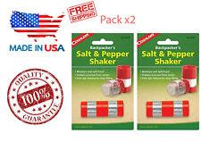 2 Mini Salt Pepper Shaker Outdoor Travel Camping Dining Hiking Backpack Kitchen