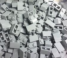 Lego X100 Pc. New Light Bluish Gray 1x2 Brick / Standard Building Bricks Parts