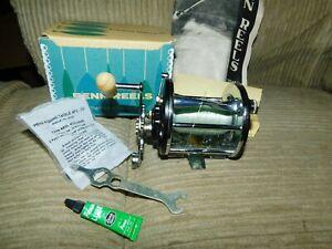 VINTAGE PENN LEVELINE 350 BAIT CAST FISHIG REEL BOX & STUFF