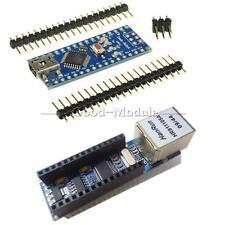 Arduino USB Nano V3.0 4.0 Atmega328P 5V Board+ENC28J60 Ethernet Shield Module