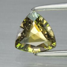 CERTIFICATE Incl.*0.63ct IF Trillion Natural Unheated Greenish Yellow Sapphire