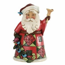 "Jim Shore Figur N°4034370  - ""SANTA WITH BELL"" - ENESCO CHRISTMAS DEKORATION"