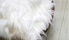 "Faux Fur Snow White 20""x30"" photo Prop Newborn soft Blanket Photography props!"