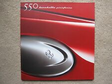 Ferrari 550 Barchetta brochure - large format - 2000 + CD ROM