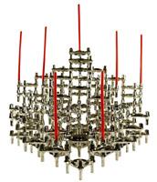 Modulare Kerzen Ständer Halter BMF Chrom 91 Teile Vintage 70er Jahre Quist Nagel