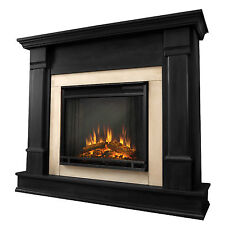 Electric Fireplace Silverton Real Flame Heater Dk Mahogany, White, or Black