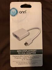 onn Mini DisplayPort To VGA Adapter