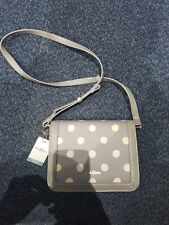 Cath Kidston Embossed Small Lock Bag Button Spot Grey