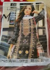 3 Piece stitched Limelight Inspired Embroidered Linen Indian Pakistani Salwar M
