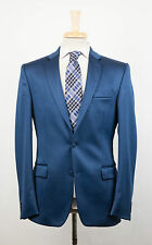 New VERSACE COLLECTION Sapphire Blue Polyester Blend 2 Button Suit 54/44 R $1395