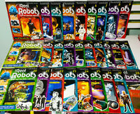 Lot of 28x Ultimate Real Robots Magazines 1-28! Rare Sequential Lot; #28 Sealed!